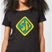 Scooby Doo Emblem Women's T-Shirt - Black - L - Black