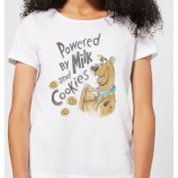 Scooby Doo Powered By Milk And Cookies Women's T-Shirt - White - 5XL - White - Cookies Gifts
