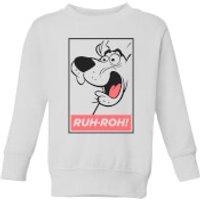 Scooby Doo Ruh-Roh! Kids' Sweatshirt - White - 3-4 Years - White