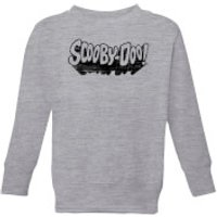 Scooby Doo Retro Mono Logo Kids' Sweatshirt - Grey - 11-12 Years - Grey