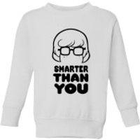 Scooby Doo Smarter Than You Kids' Sweatshirt - White - 5-6 Years - White