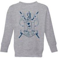 Scooby Doo Coat Of Arms Kids' Sweatshirt - Grey - 5-6 Years - Grey