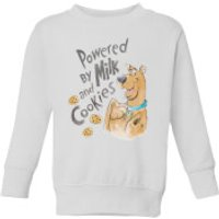 Scooby Doo Powered By Milk And Cookies Kids' Sweatshirt - White - 11-12 Years - White - Cookies Gifts