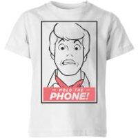 Scooby Doo Hold The Phone Kids' T-Shirt - White - 5-6 Years - White