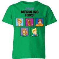 Scooby Doo Meddling Kids Kids' T-Shirt - Kelly Green - 11-12 Years - Kelly Green - Scooby Doo Gifts
