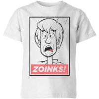 Scooby Doo Zoinks! Kids' T-Shirt - White - 11-12 Years - White - Scooby Doo Gifts