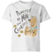 Scooby Doo Powered By Milk And Cookies Kids' T-Shirt - White - 11-12 Years - White - Cookies Gifts