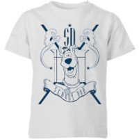 Scooby Doo Coat Of Arms Kids' T-Shirt - Grey - 11-12 Years - Grey - Scooby Doo Gifts