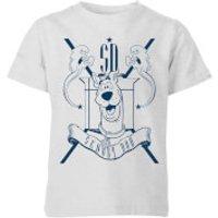 Scooby Doo Coat Of Arms Kids T-Shirt - Grey - 11-12 Years - Grey