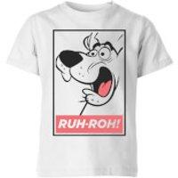 Scooby Doo Ruh-Roh! Kids' T-Shirt - White - 11-12 Years - White - Scooby Doo Gifts