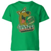 Scooby Doo Scooby Snacks Kids' T-Shirt - Kelly Green - 5-6 Years - Kelly Green - Scooby Doo Gifts