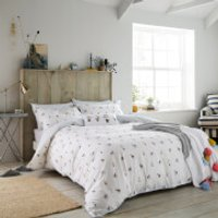 Joules Garden Dogs Duvet Cover - White - Super King