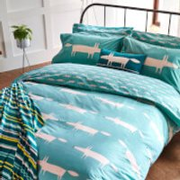 Scion Mr. Fox Duvet Cover - Teal - King