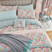 Helena Springfield Mary Jane Duvet Cover Set - Duck Egg - Single