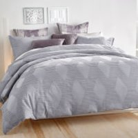 DKNY Geo Clip Jacquard Duvet Cover - Purple Dusk - Super King