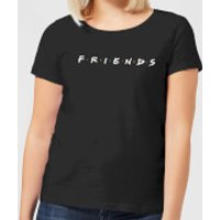 Friends Logo Contrast Women's T-Shirt - Black - S - Black