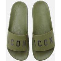 Dsquared2 Men's Icon Slide Sandals - Khaki - UK 10 - Green
