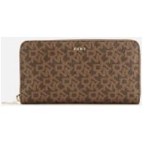 Dkny Bryant Large Zip Around Purse - Mocha Logo