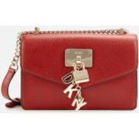 shop for DKNY Women's Elissa Small Shoulder Flap Bag - Bright Red at Shopo