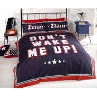 Rapport Don't Wake Me Up Duvet Set - Navy - King - Bedding Gifts