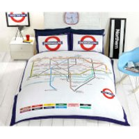 Rapport London Underground Duvet Set - Multi - Double