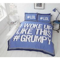 Rapport I Woke Up Grumpy Duvet Set - Blue - Single