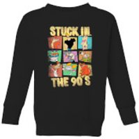 Cartoon Network Stuck In The 90s Kids' Sweatshirt - Black - 7-8 Years - Black