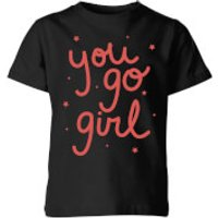 You Go Girl Kids' T-Shirt - Black - 3-4 Years - Black - Girl Gifts
