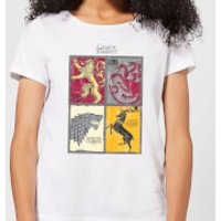 Game of Thrones Houses Women's T-Shirt - White - XL - White