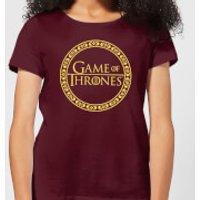 Game of Thrones Circle Logo Women's T-Shirt - Burgundy - XS - Burgundy