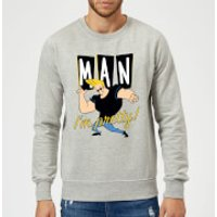 Johnny Bravo Man I'm Pretty Sweatshirt - Grey - M - Grey