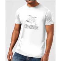 Courage The Cowardly Dog Outline Men's T-Shirt - White - S - White