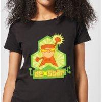 Dexters Lab DexStar Hero Women's T-Shirt - Black - 3XL - Black