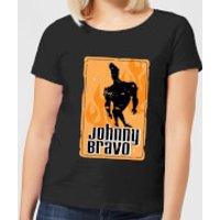 Johnny Bravo Fire Women's T-Shirt - Black - 3XL - Black