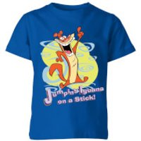 I Am Weasel Jumping Iguana On A Stick Kids' T-Shirt - Royal Blue - 7-8 Years - Royal Blue