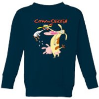 Cow and Chicken Characters Kids' Sweatshirt - Navy - 11-12 Years - Navy - Chicken Gifts