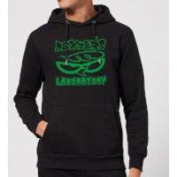 Dexters Lab Logo Hoodie - Black - S - Black