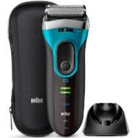 Braun Series 3 Proskin 3080S Electric Shaver - Black/Blue