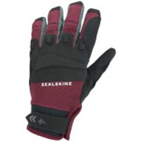 Sealskinz All Weather MTB Gloves - XXL - Black/Red