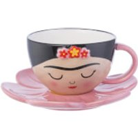 Sass & Belle Viva La Frida Fiesta Cup and FlowerSaucer Set - Cup Gifts