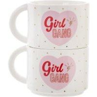 Sass & Belle Set of 2 Girl Power Stacking Mugs - Mugs Gifts