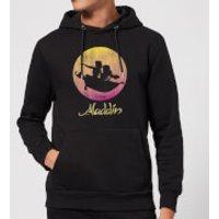 Image of Disney Aladdin Flying Sunset Hoodie - Black - XL - Black