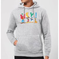 Disney Mickey Mouse Hey! Hoodie - Grey - XL - Grey