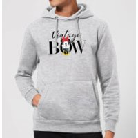 Disney Minnie Mouse Vintage Bow Hoodie - Grey - XXL - Grey