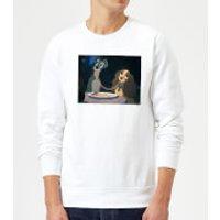 Disney Lady And The Tramp Spaghetti Scene Sweatshirt - White - 3XL - White