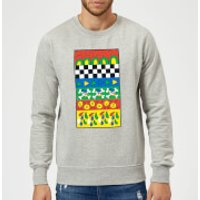 Donald Duck Vintage Pattern Sweatshirt - Grey - M - Grey