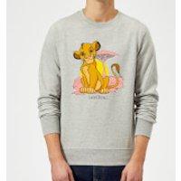 Image of Disney Lion King Simba Pastel Sweatshirt - Grey - M - Grey