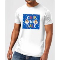 Disney Chip N' Dale Men's T-Shirt - White - M - White