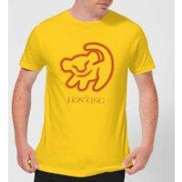 Disney Lion King Cave Drawing Men's T-Shirt - Yellow - XXL - Yellow - Drawing Gifts