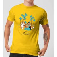 Disney Aladdin Princess Jasmine Men's T-Shirt - Yellow - S - Yellow - Princess Jasmine Gifts